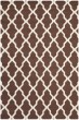 Product Image of Contemporary / Modern Dark Brown, Ivory (H) Area Rug