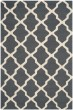 Product Image of Contemporary / Modern Dark Grey, Ivory (X) Area Rug