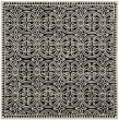 Product Image of Black, Ivory (E) Moroccan Area Rug