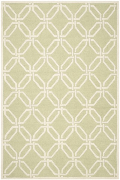 Lime, Ivory (N) Contemporary / Modern Area Rug