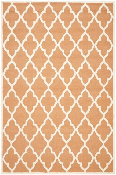 Coral, Ivory (W) Contemporary / Modern Area Rug