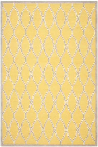 Gold, Ivory (Q) Contemporary / Modern Area Rug
