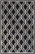 Product Image of Contemporary / Modern Black, Ivory (E) Area Rug