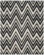 Product Image of Chevron Black, Ivory (K) Area Rug