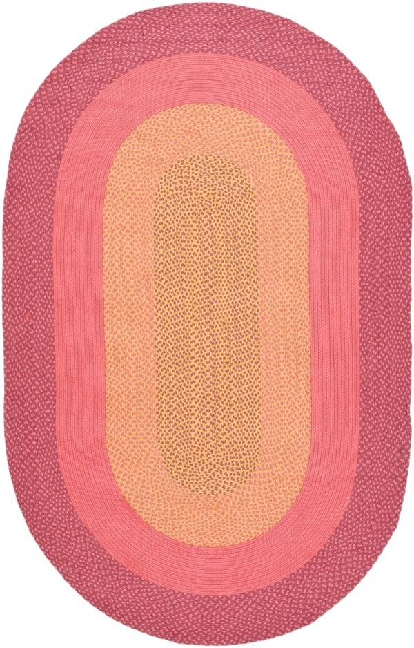 Red, Pink, Beige (A) Country Area Rug