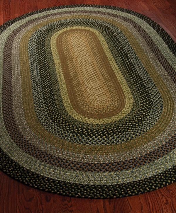 Blue, Gold (A) Country Area Rug