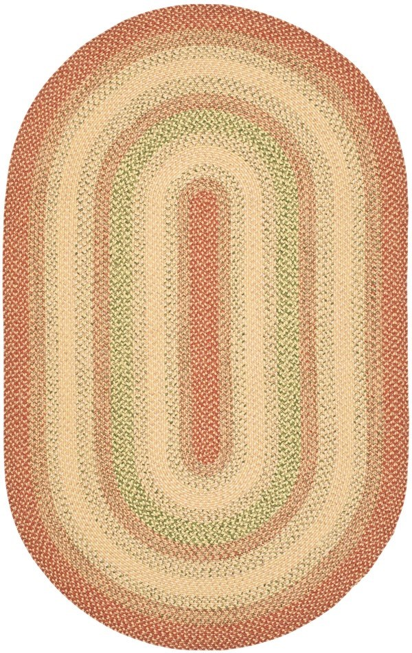 Rust, Beige (A) Country Area Rug