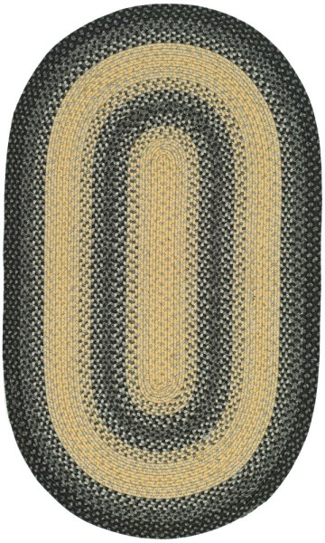 Black, Grey (A) Country Area Rug
