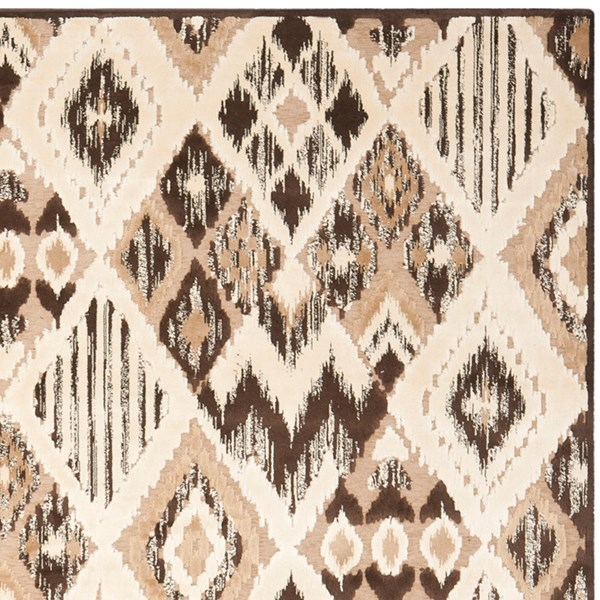 Brown, Taupe (360) Transitional Area Rug