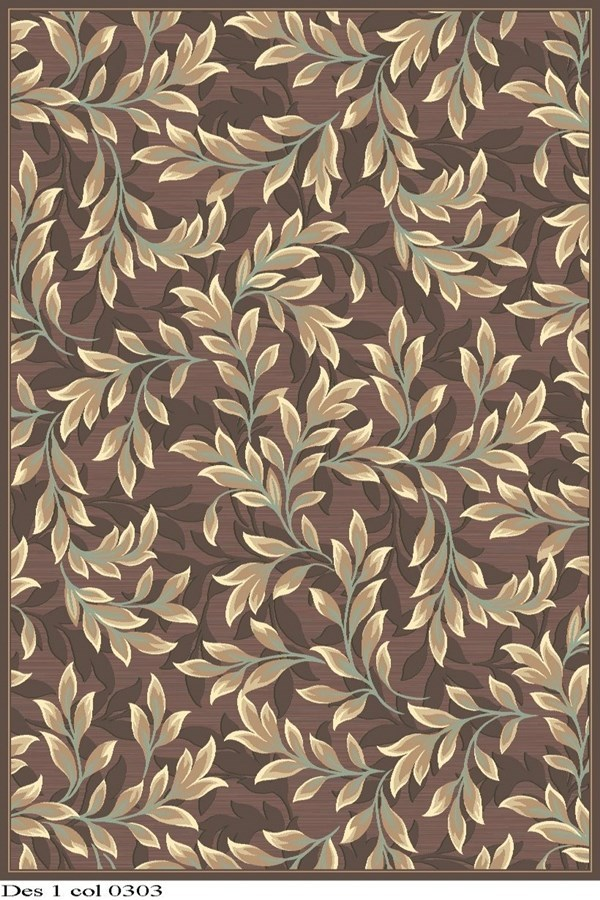 Light Brown (303) Floral / Botanical Area Rug