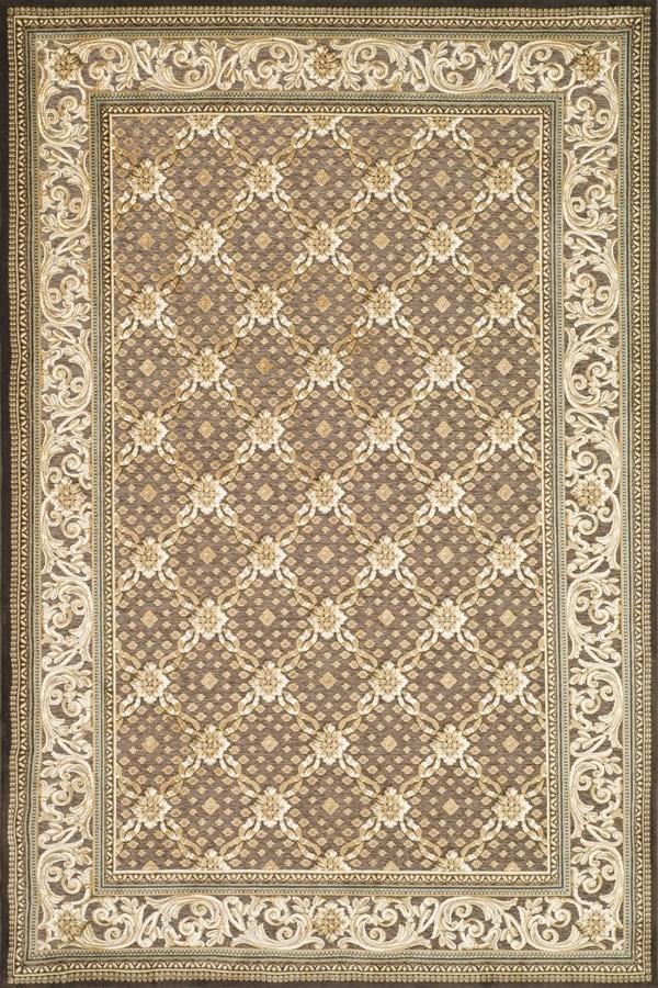 Dark Brown (303) Traditional / Oriental Area Rug