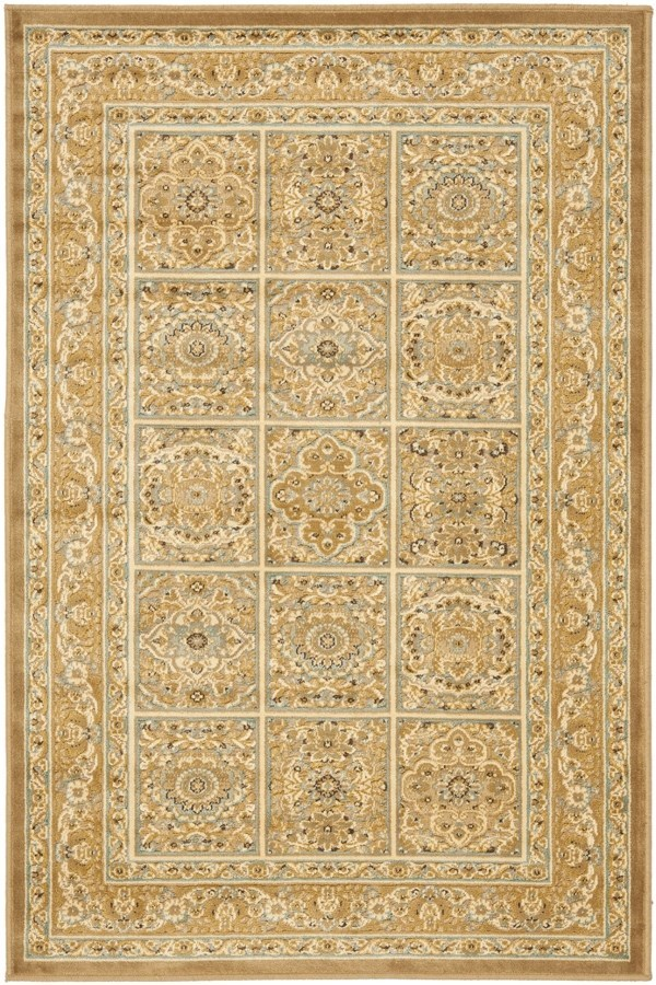 Beige (606) Traditional / Oriental Area Rug