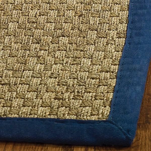Natural, Blue (E) Rustic / Farmhouse Area Rug