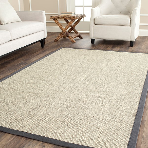 Marble, Grey (B) Natural Fiber Area Rug
