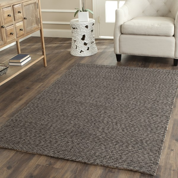 Grey, Grey (A) Rustic / Farmhouse Area Rug
