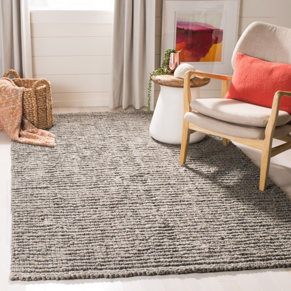 Light Grey (G) Natural Fiber Area Rug