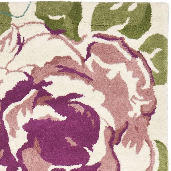 Ivory (A) Floral / Botanical Area Rug