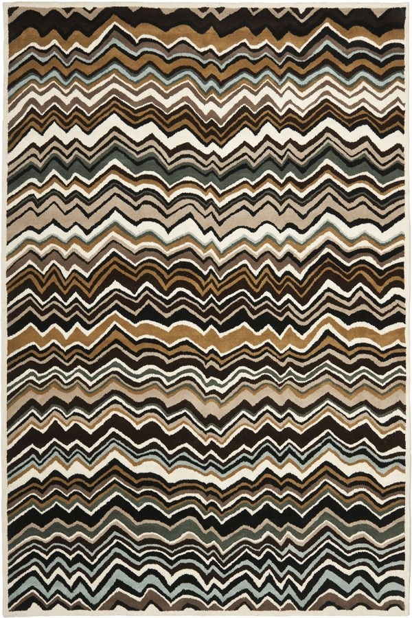 Brown (A) Contemporary / Modern Area Rug