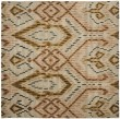 Product Image of Brown, Ivory (A) Ikat Area Rug