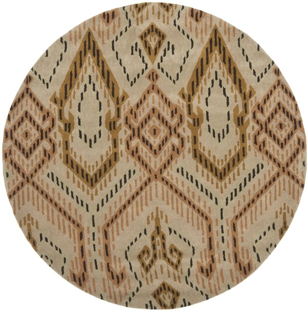 Brown, Ivory (A) Ikat Area Rug
