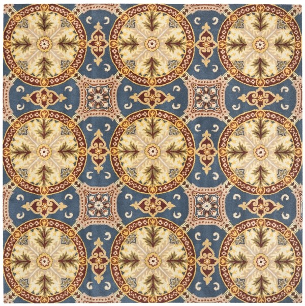 Blue, Gold (A) Transitional Area Rug