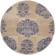 Product Image of Beige, Lavender (A) Damask Area Rug