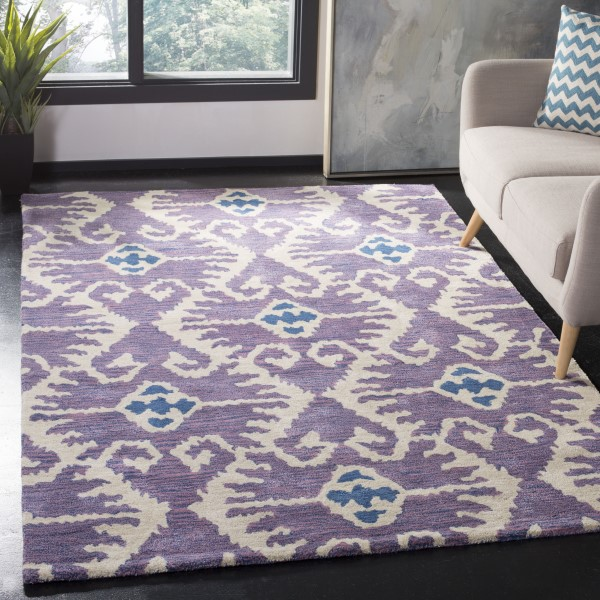Lavender, Ivory (A) Moroccan Area Rug