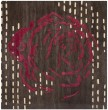 Product Image of Charcoal, Red (A) Contemporary / Modern Area Rug