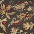 Product Image of Dark Grey, Red (A) Floral / Botanical Area Rug