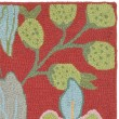 Product Image of Red, Blue (A) Floral / Botanical Area Rug