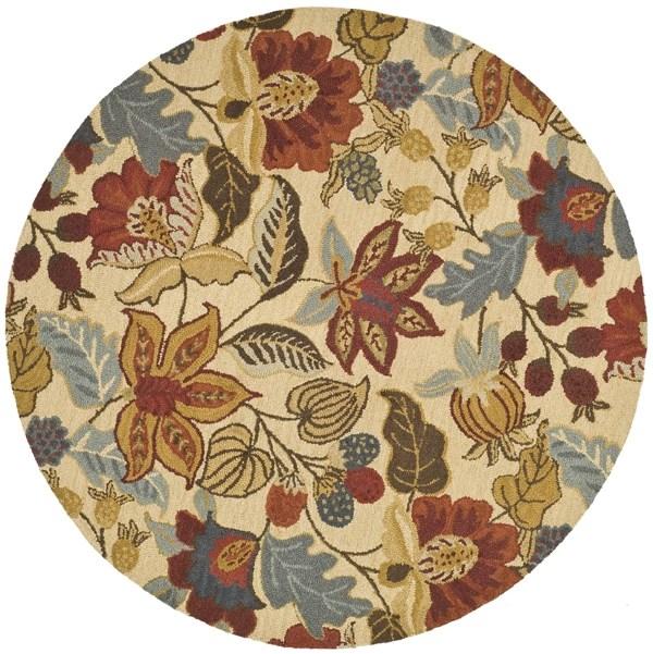 Beige (A) Floral / Botanical Area Rug