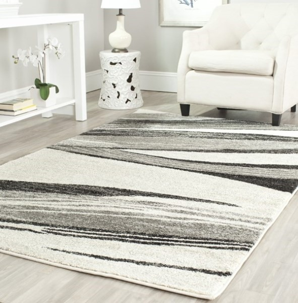 Light Grey, Ivory (7912) Transitional Area Rug