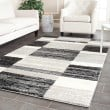 Product Image of Black, Light Grey (9079) Geometric Area Rug