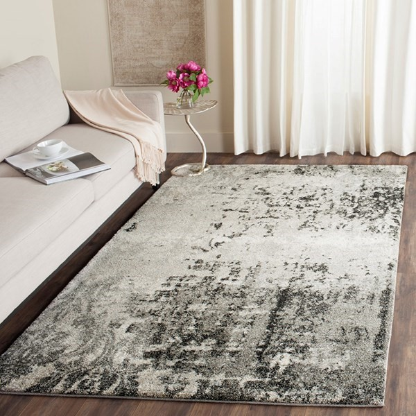 Light Grey, Grey (7980) Vintage / Overdyed Area Rug