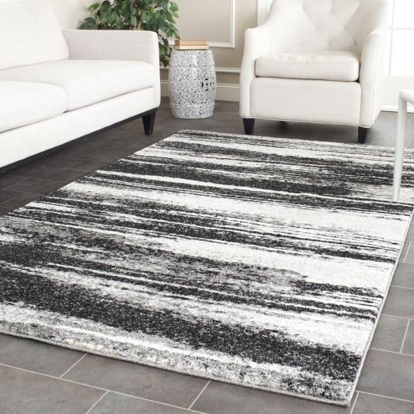 Dark Grey, Light Grey (8479) Contemporary / Modern Area Rug