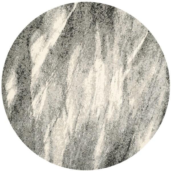 Grey, Ivory (8012) Transitional Area Rug