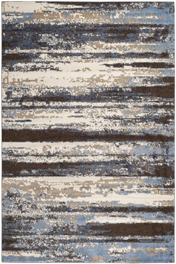 Cream, Blue (1165) Contemporary / Modern Area Rug