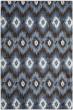 Product Image of Ikat Dark Brown, Blue (2865) Area Rug