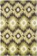 Product Image of Ikat Dark Brown, Green (2852) Area Rug