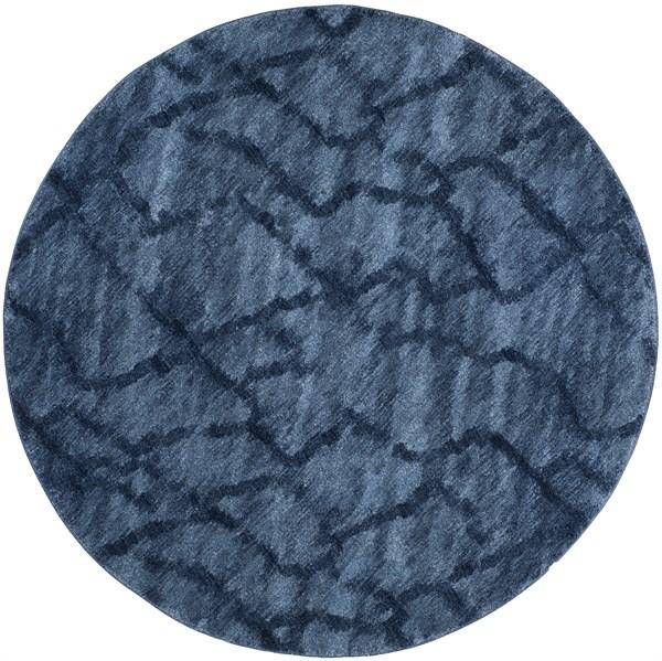 Blue, Dark Blue (6570) Contemporary / Modern Area Rug