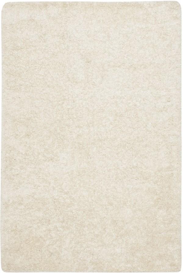White (W) Shag Area Rug