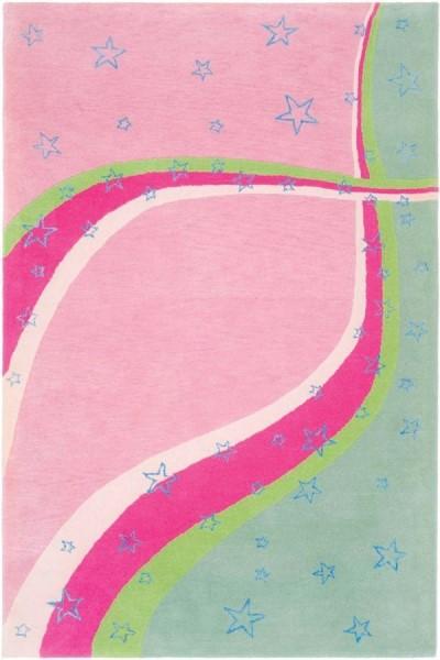 Green, Pink (A) Children's / Kids Area Rug