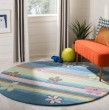 Product Image of Blue, Pink (A) Children's / Kids Area Rug