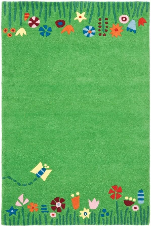 Green, Olive, Sage (A) Children's / Kids Area Rug