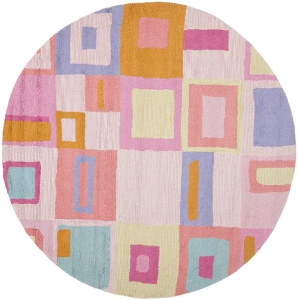 Pink, Ivory (A) Children's / Kids Area Rug
