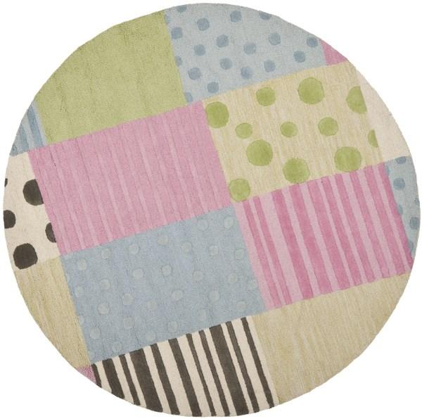 Blue, Pink (A) Children's / Kids Area Rug