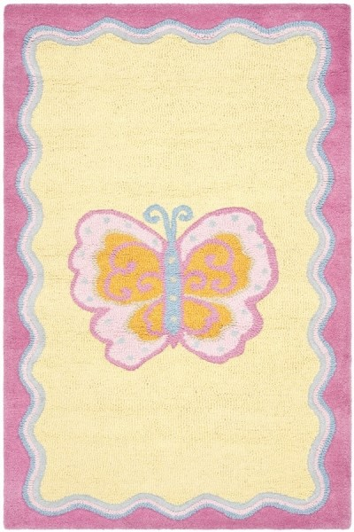 Pink, Yellow (A) Children's / Kids Area Rug
