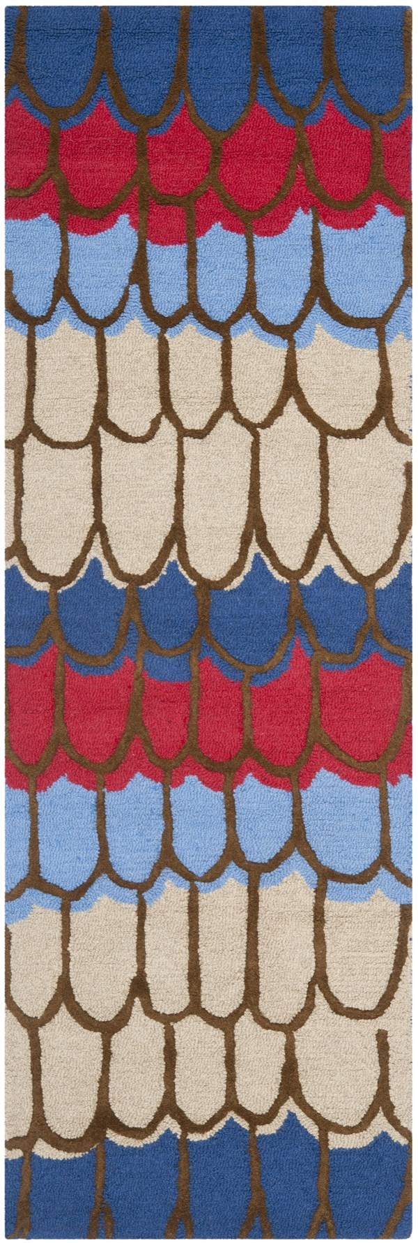 Blue, Red (A) Children's / Kids Area Rug