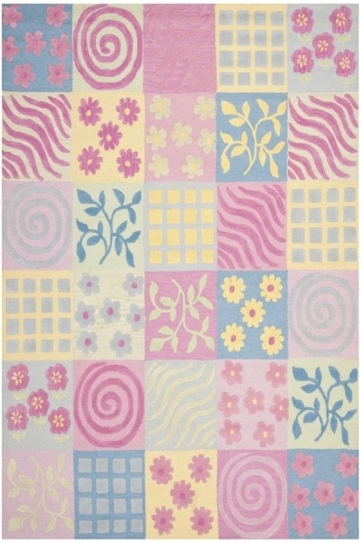 Pink, Blue (A) Children's / Kids Area Rug