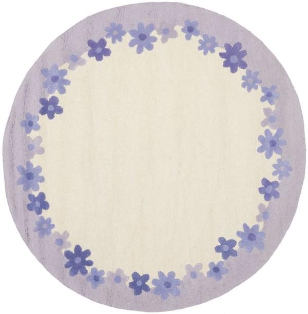 Ivory, Lavender (A) Children's / Kids Area Rug